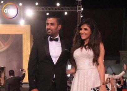 مي عمر وزوجها محمد سامي
