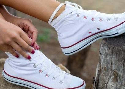 الحذاء الأبيض