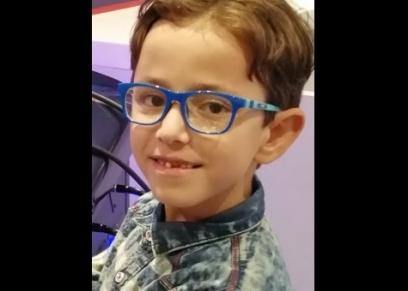 الطفل أحمد خالد الذى تعرض للاعتداء بالضرب