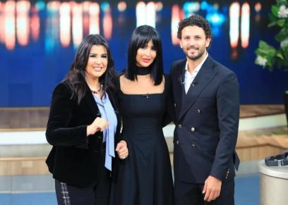 حسام غالي وزوجته والإعلامية منى الشاذلي