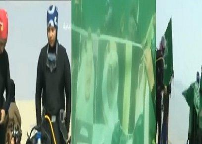بالفيديو| في اليوم الوطني السعودي.. سعوديات يخضن تجربة الغوص في مياه الخليج