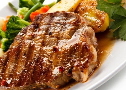 شرائح اللحم الضاني بالزبدة