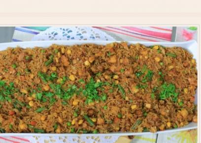 أرز مقلي بالأناناس
