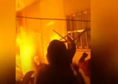 اشتعال النيران في منزل زوجين صبيين