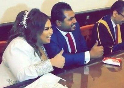 دينا محسن وزوجها