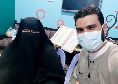 عزة عبد الحميد أم 2 ممرضين في الحجر الصحي