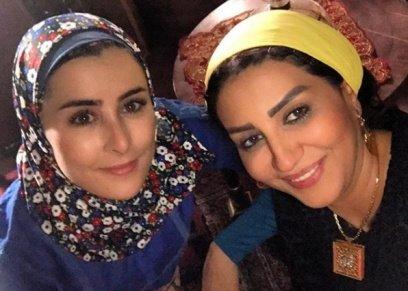 وفاء عامر وعائشة بن أحمد من كواليس
