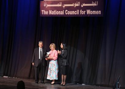 مشيرة خطاب ومايا مرسي وهاني عزيز