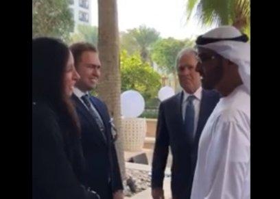 تحية جورج بوش ومحمد بن زايد للعروسين