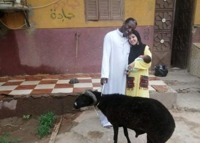 صابر النوبي وزوجته الفرنسية