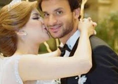 محمود علاء وزوجته