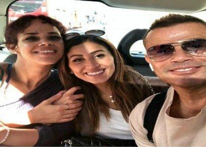 بالصور| إطلالة جريئة لدينا الشربيني في حفل عمرو دياب بالجونة