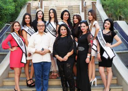 جلسة تصوير جديدة لملكات جمال العرب على ضفاف النيل