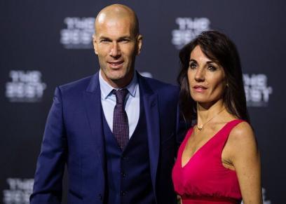 زين الدين زيدان وزوجته