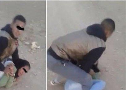 فيديو صادم لشاب يحاول اغتصاب فتاة في الطريق العام نهارا في المغرب