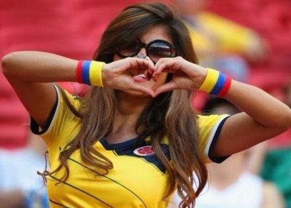مشجعة كولومبية