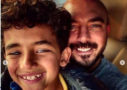 محمود العسيلي وابنه علي