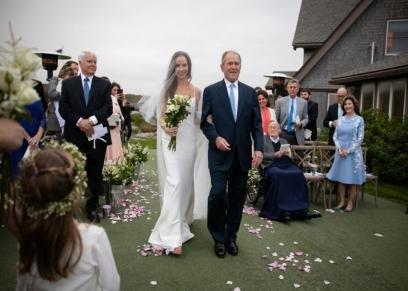 جورج بوش وابنته