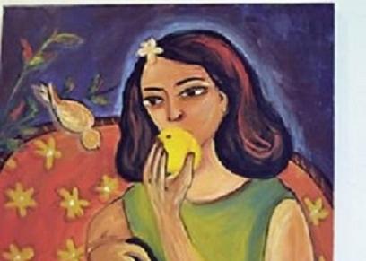 إحدى لوحات المعرض