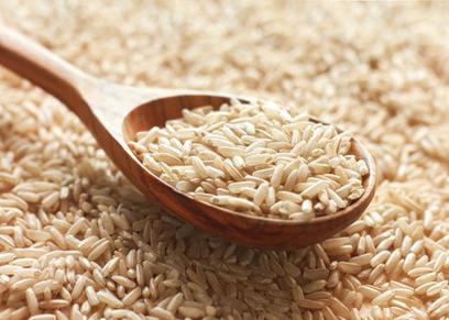 الأرز البني
