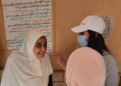 جانب من مبادرة فتايات الإسكندرية لتعقيم ودعم دور المسنين