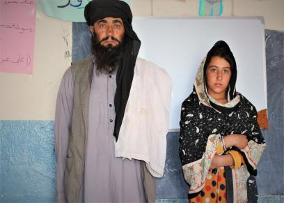 ميا خان وابنته الكبرى