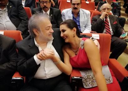 وفاء عامر تحتفل بعيد ميلاد زوجها