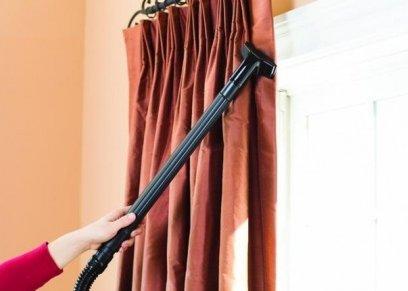 نصائح سهلة لتنظيف السجاد والستائر في المنزل