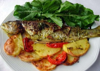 طبق سمك ماكريل في الفرن