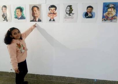 طفلة تنتصر على انفصال والديها وتفوز فى مسابقة دولية للكاريكاتير