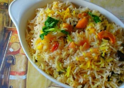 الأرز بالبرتقال