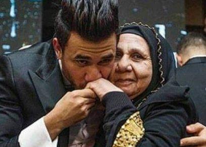 تريزيجيه ووالدته في حفل زفافه بالأمس