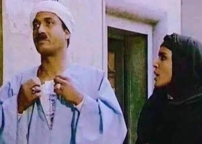 أحمد زكي ومهجة عبد الرحمن فى فيلم البيه البواب