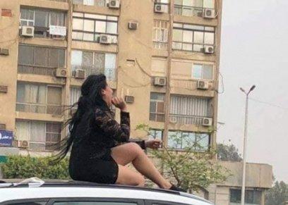 بالصور| بعد القبض عليها.. القصة الكاملة للفتاة الراقصة فوق سطح سيارة أمام عمارات صلاح سالم