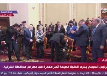 الرئيس السيسي خلال الإحتفال بيوم المرأة المصرية