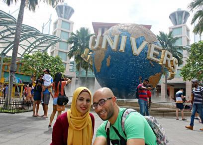 هشام أحمد وزوجته سلمى