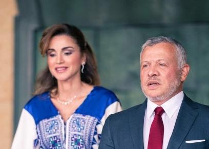 الملك الأردني وزوجته