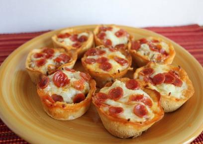 طريقة عمل كب كيك البيتزا