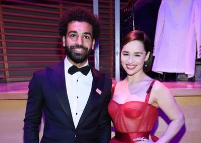 محمد صلاح وإميليا كلارك