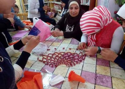 سيدات من ذوي الهمم المشاركات في أول متجر الكتروني