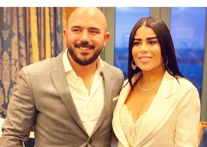 محمود العسيلي وزوجته