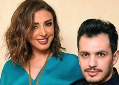 الفنانة أنغام وزوجها أحمد إبراهيم