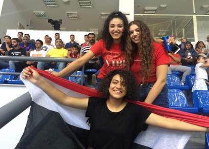 جمهو  البنات  في منتخب كرة الطايرة  بالإسماعيلية