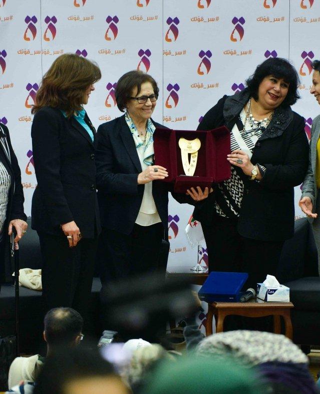 تكريم جميلة بوحيرد بالمجلس القومي للمرأة