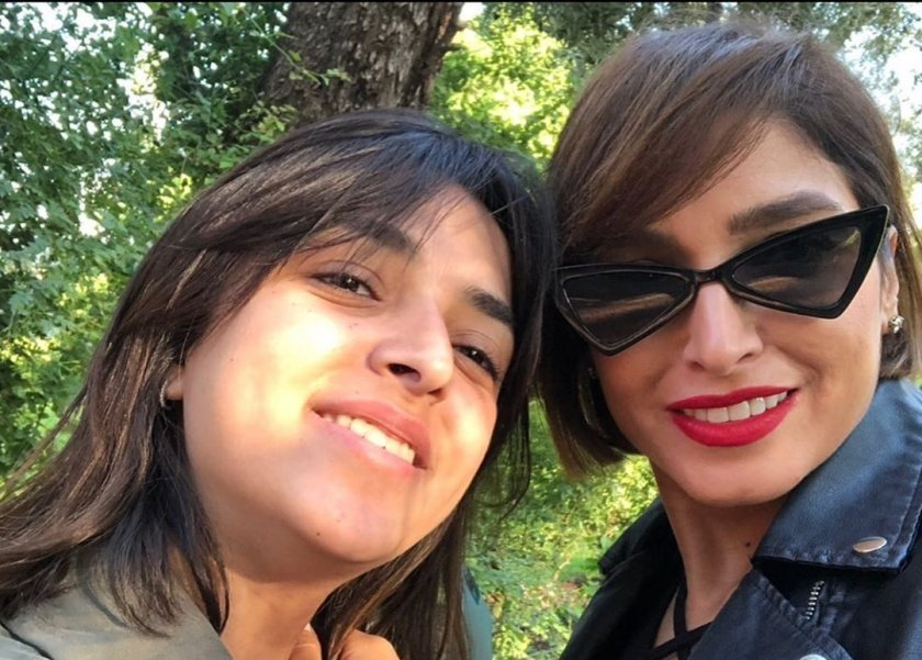 الفنانة روجينا وابنتها مايا