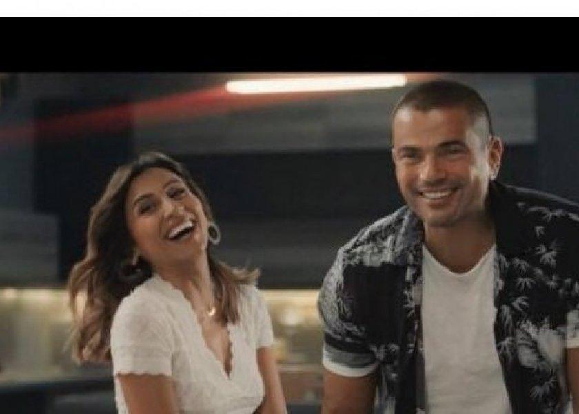 عمرو دياب يشارك دينا الشربيني أحدث أغانيه