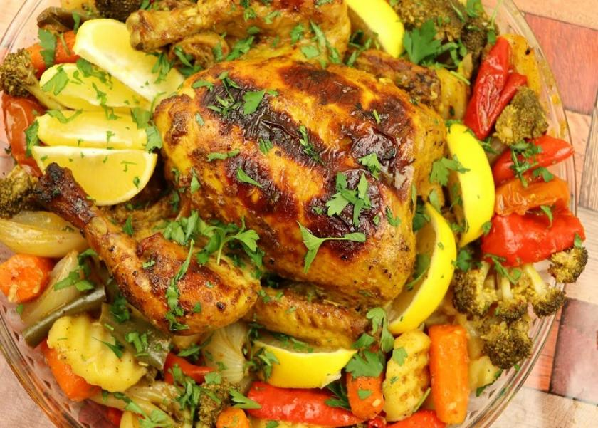 طريقة عمل دجاج بالزعتر والكاري