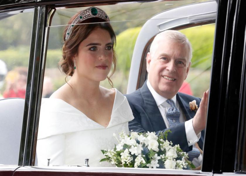 بالصور| زفاف الأميرة يوجيني حفيدة الملكة البريطانية