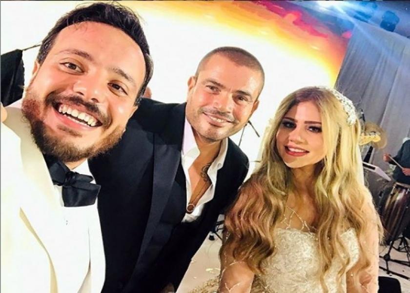 هدير وإسماعيل مع عمرو دياب