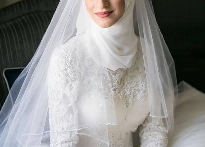bf5ec10f0 هن | هل خلع الحجاب يوم الزفاف حرام؟